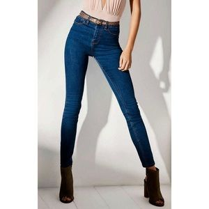 Urban Outfitters High Rise Twig Ankle Blue Jeans
